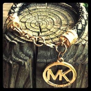 Michael Kors Leather Braid Bracelet